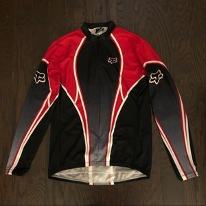Fox Racing Shirt, Men's Long-sleeve Zip-up, EUC